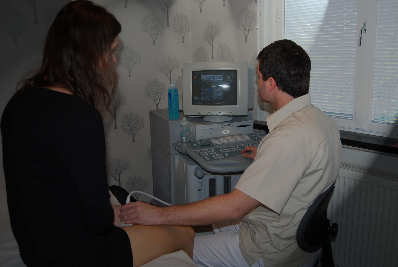 Duplexundersökning av åderbråck (ultraljud)